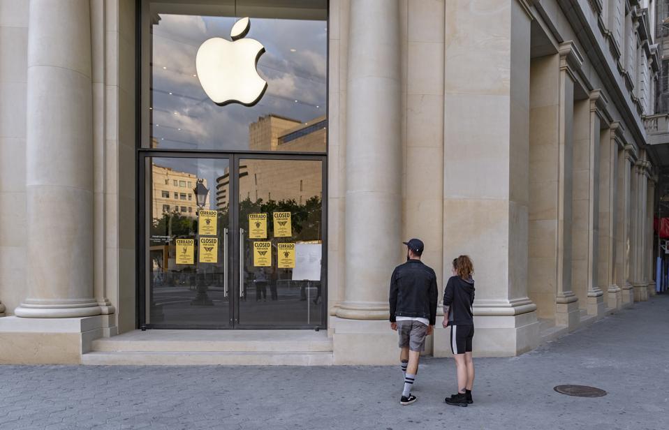 Apple Tech Protest Police Covid