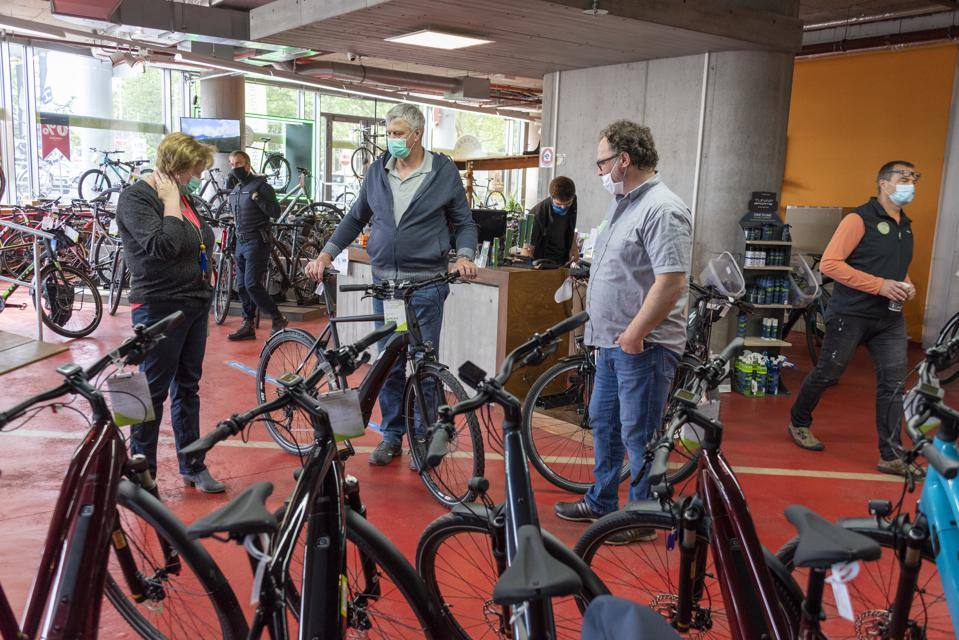 Coronavirus - sales increase for bicycles