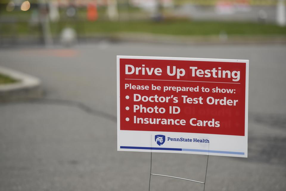 Drive Up Coronavirus Testing At Pennsylvania Hospital