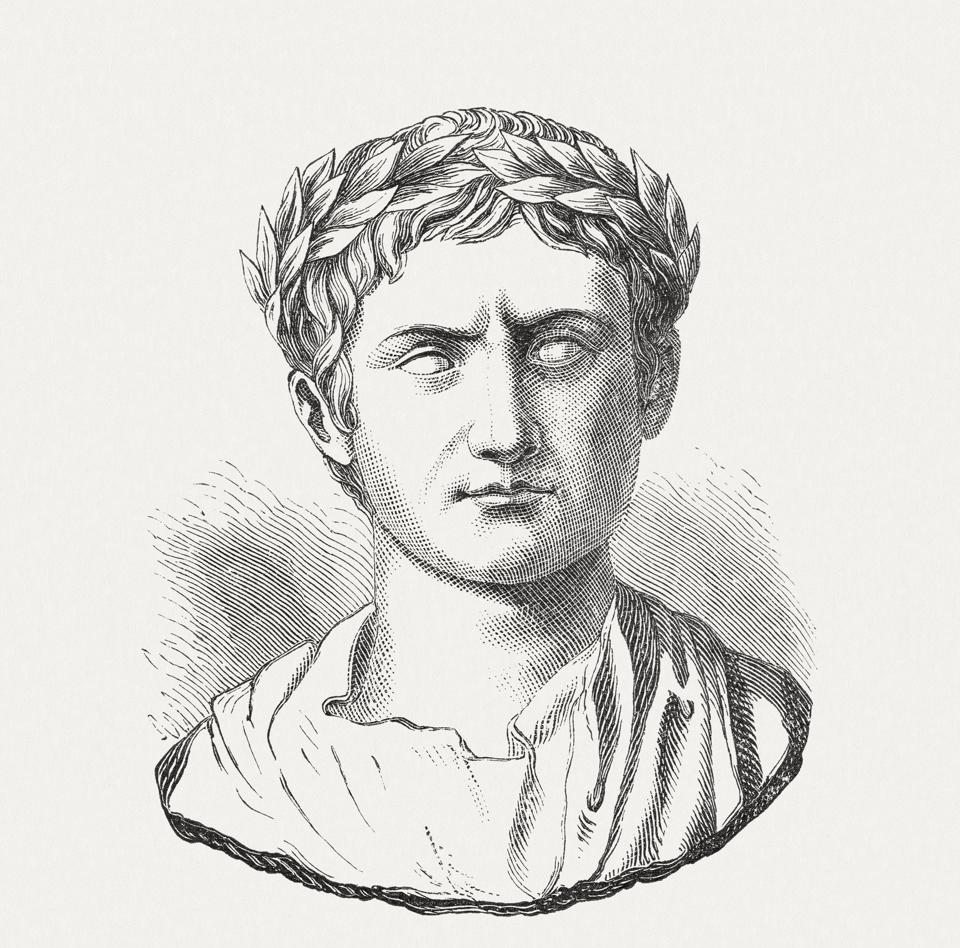 Augustus (63 BC-14 AD), Roman emperor, wood engraving, published 1893