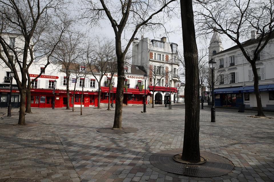 France Coronavirus Paris lockdown empty streets
