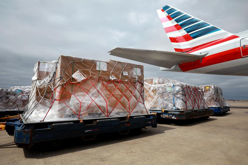 American Airlines Converts Passenger Jets To Cargo To Ferry Supplies To Europe