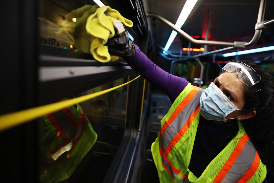 Public Transport Systems Across The U.S. Disinfect To Hinder Spread Of Coronavirus
