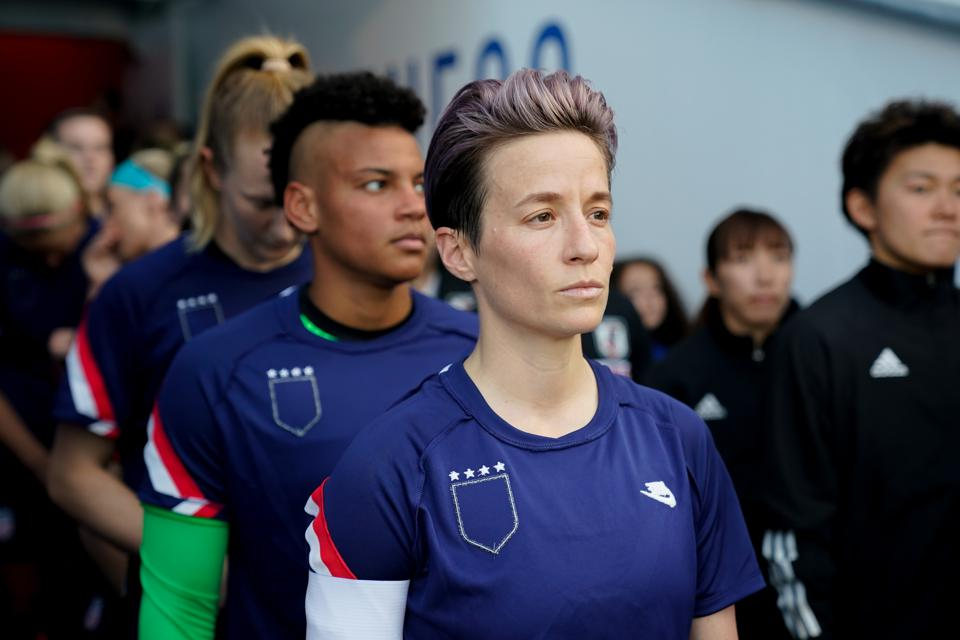 Megan Rapinoe and USWNT at the SheBelieves Cup match vs Japan