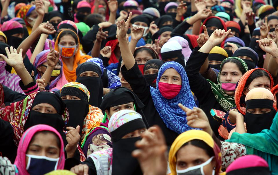Garment Workers Protest In Bangladeshi