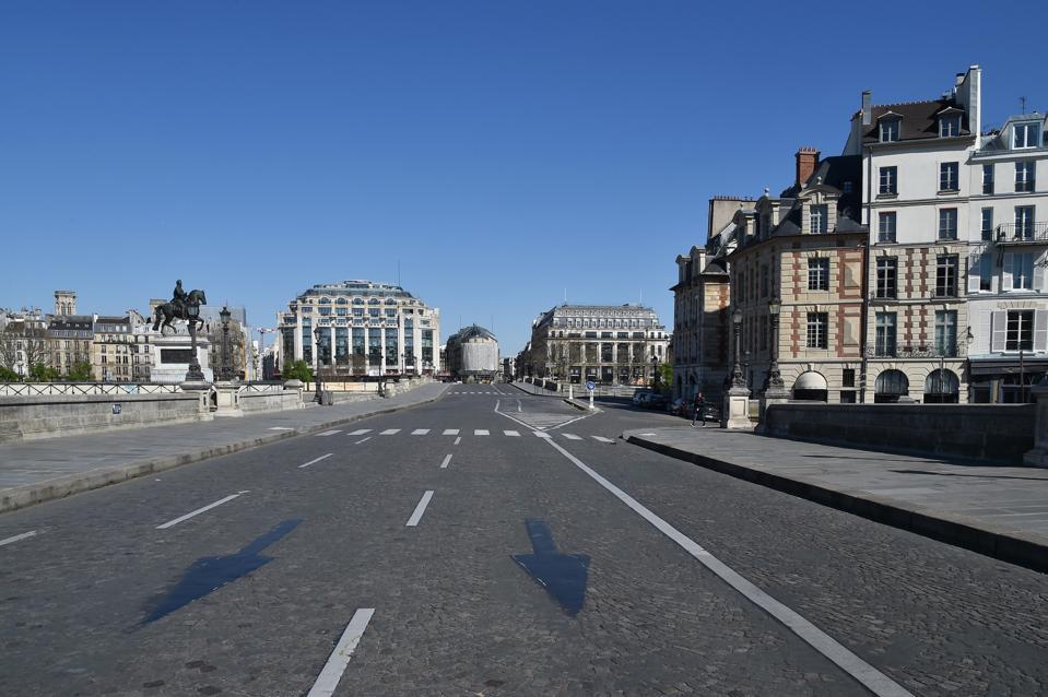 France Coronavirus Lockdown Pont Neuf Empty Paris Lockdown