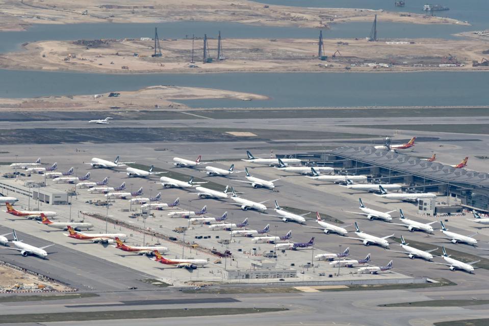 Planes At Hong Kong International Airport