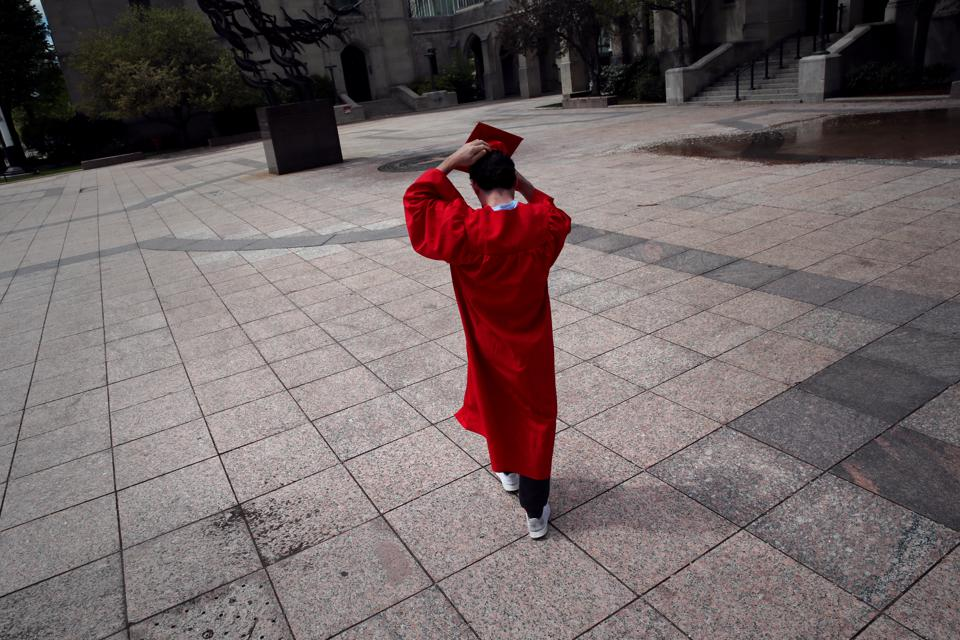 Grad Pictures on an Empty Campus