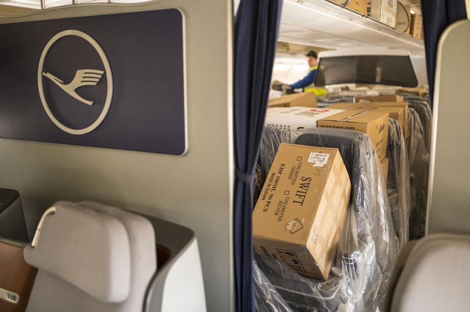 Lufthansa Brings Protective Masks Shipment From Shanghai
