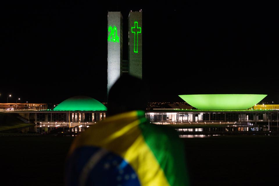 National Congress in Brazil Pays Homage to Victims of Covid-19
