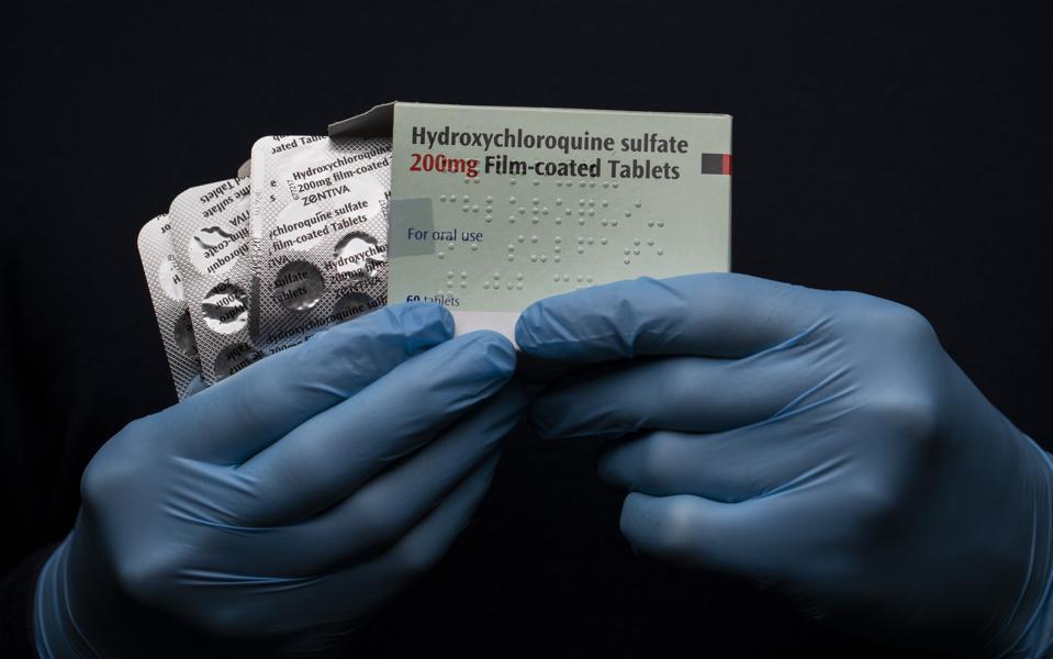 Hydroxychloroquine Sulfate Medication Illustration