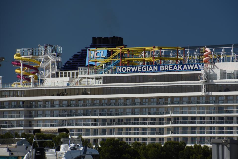 A view of the Norwegian Breakaway cruise ship in...