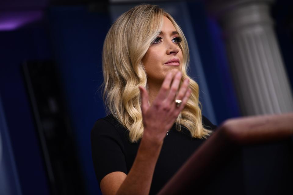 Press Secretary McEnany Says It's 'Peculiar' Joe Biden Doesn't Wear A Mask In His Home