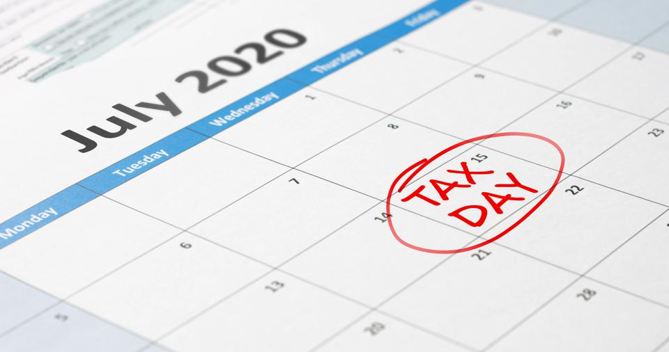 Tax day on July 15