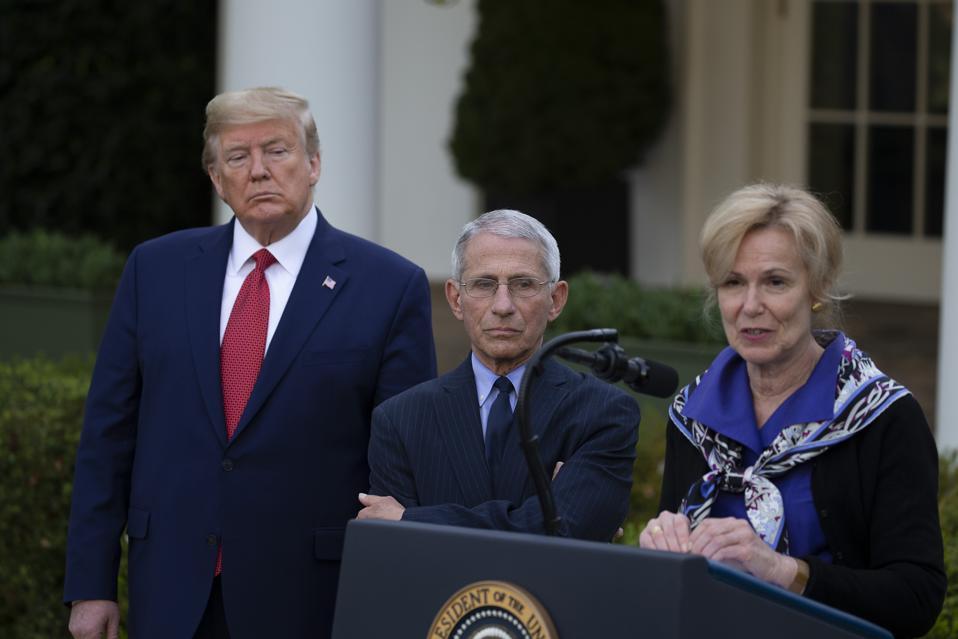 President Trump Holds Daily Coronavirus Task Force Briefing In Rose Garden