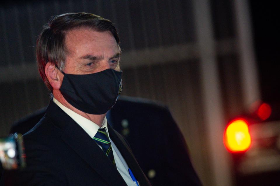 Bolsonaro Speaks with his Supporters in Front of Palacio da Alvorada Amidst the Coronavirus (COVID - 19) Pandemic