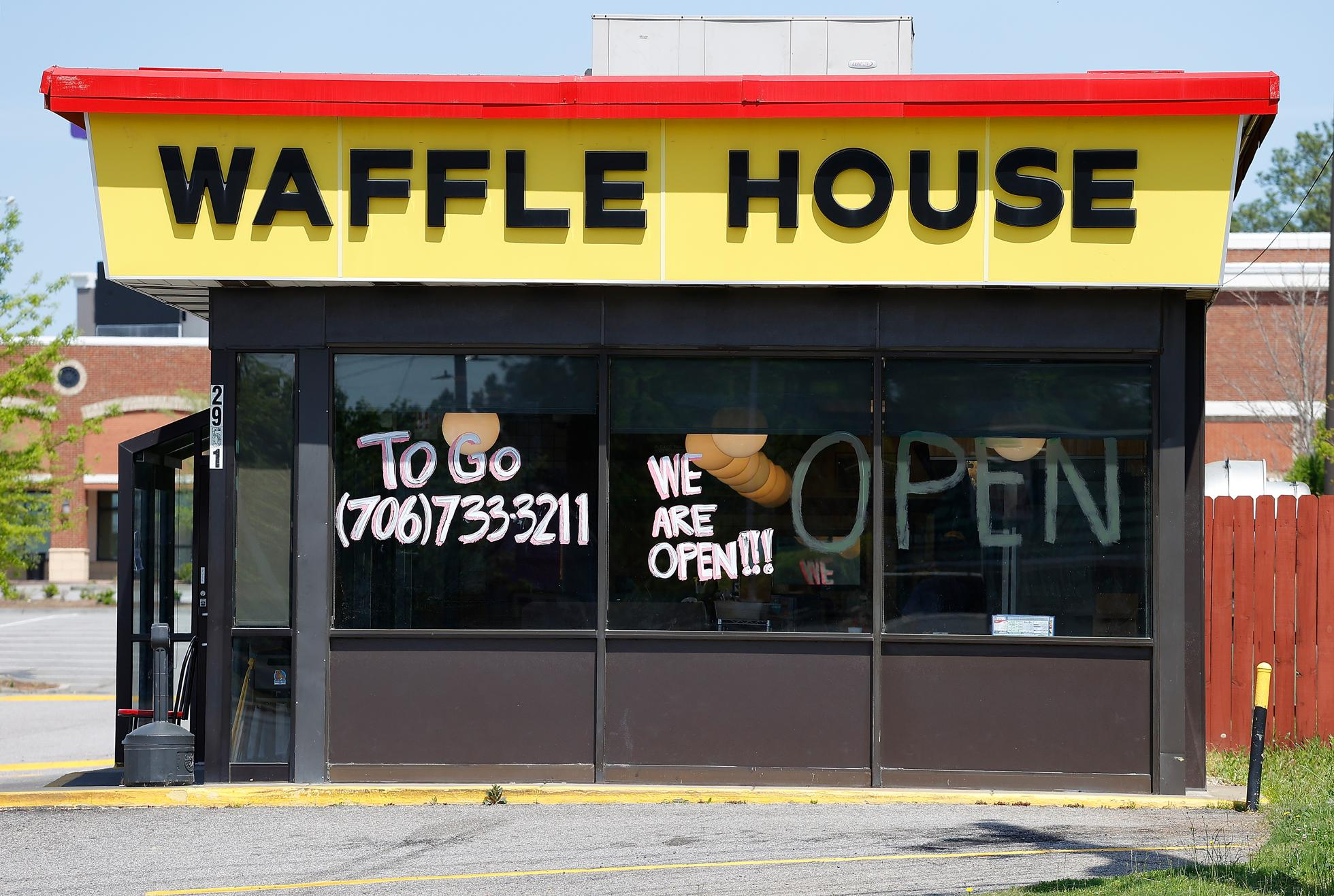 Few Waffle House locations have a drive-thru, which made the transition to takeout orders more challenging.
