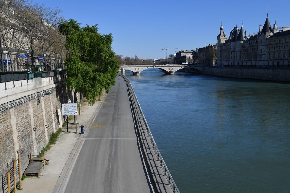 France Coronavirus Paris City of Light Is empty during lockdown