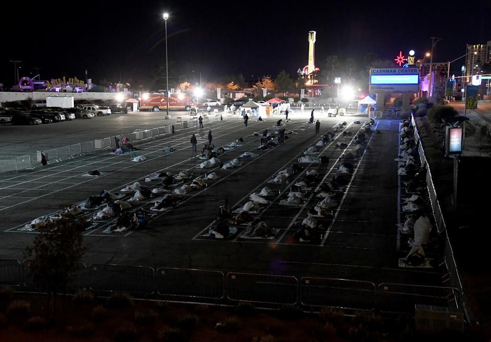 Temporary Homeless Shelter Opens At Cashman Center In Las Vegas