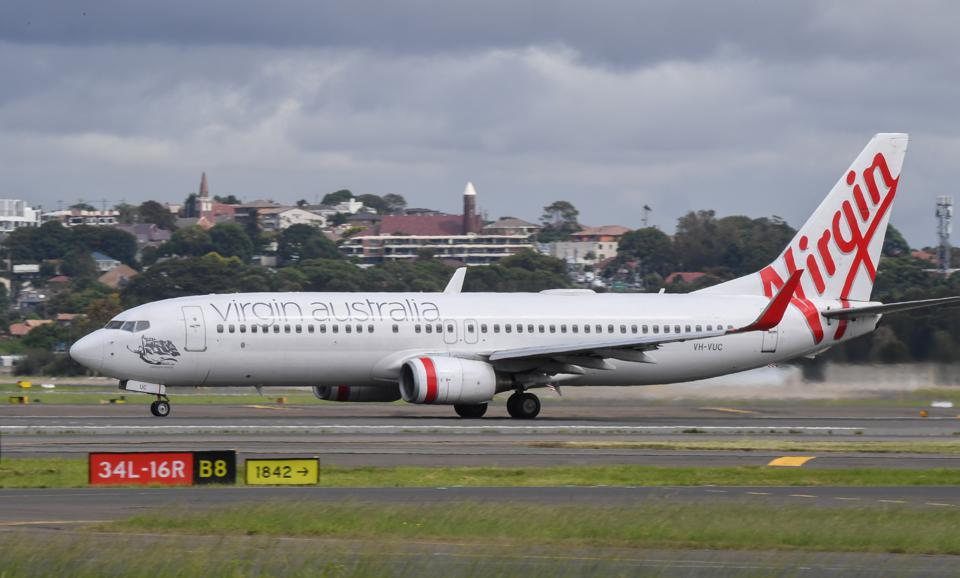 Virgin Australia aircraft at Sydney Airport, Australia