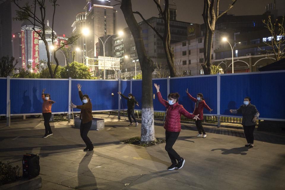 People Practice Square Dance In Wuhan As Coronavirus Cases Under Control