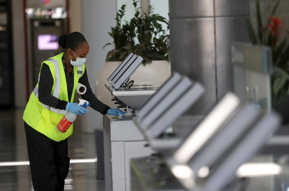 Cleanliness is a new emphasis at airports across the country