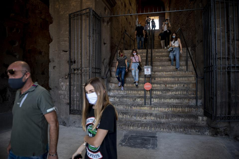 Coliseum Reopening In Rome Covid-19 coronavirus italy