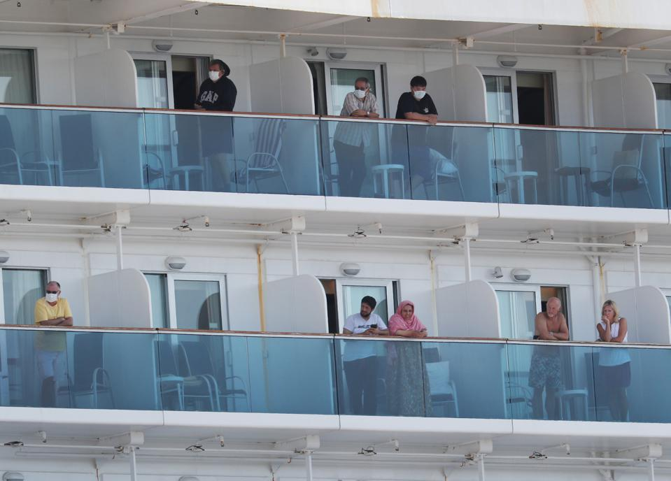 Coral Princess Cruise Ship With Coronavirus Patients On Board Docks In Miami