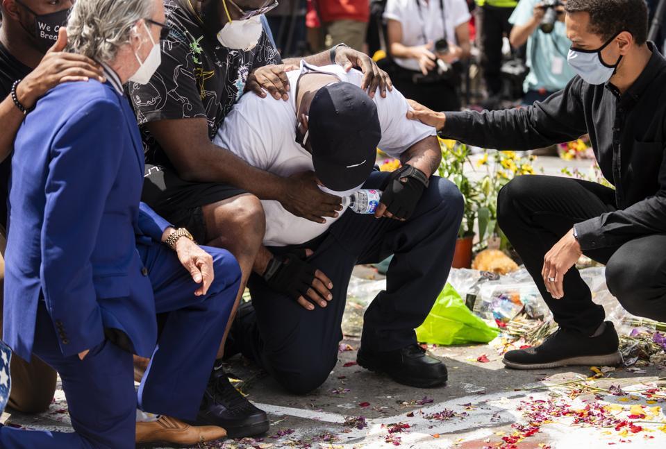 George Floyd's Brother Holds Prayer Vigil At Memorial Site