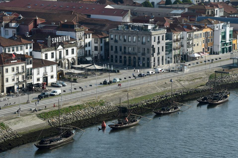 Port wine warehouses on the river front