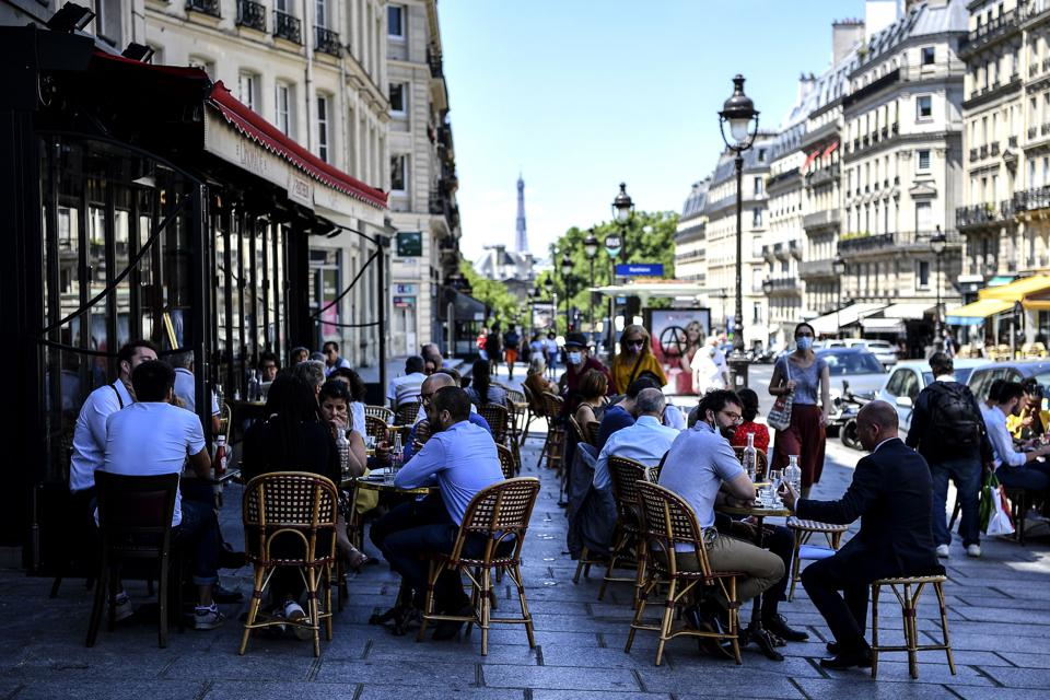 PHOTOS: Paris Cafes Reopened Today With A Lot More Sidewalk
