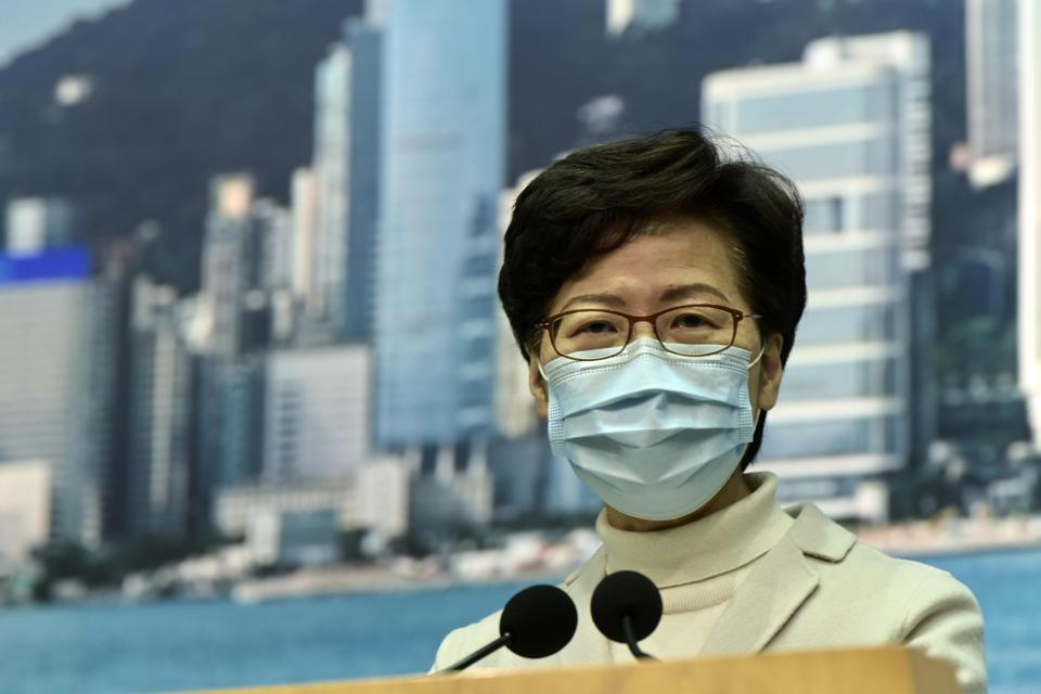 Hong Kong Chief Executive Carrie Lam Holds News Conference