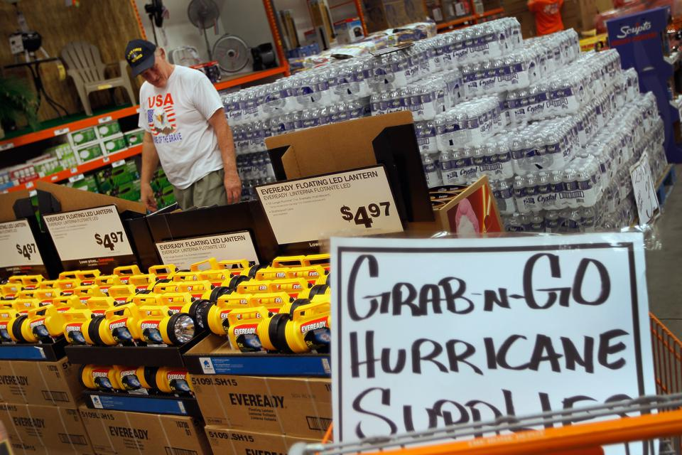 Prepare for a natural disaster with supplies