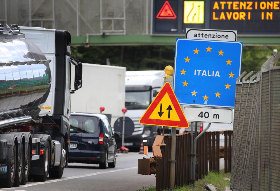 The Italian border from Austria has reopened, but lockdown traffic was minimal.