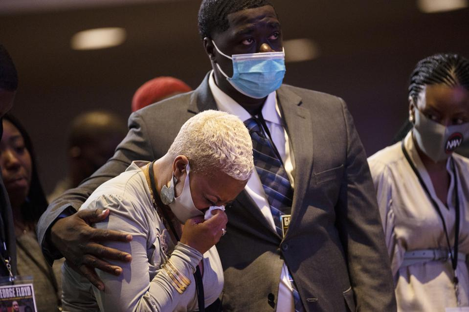 In Photos Mourners Pay Respects At Memorial Service For George Floyd