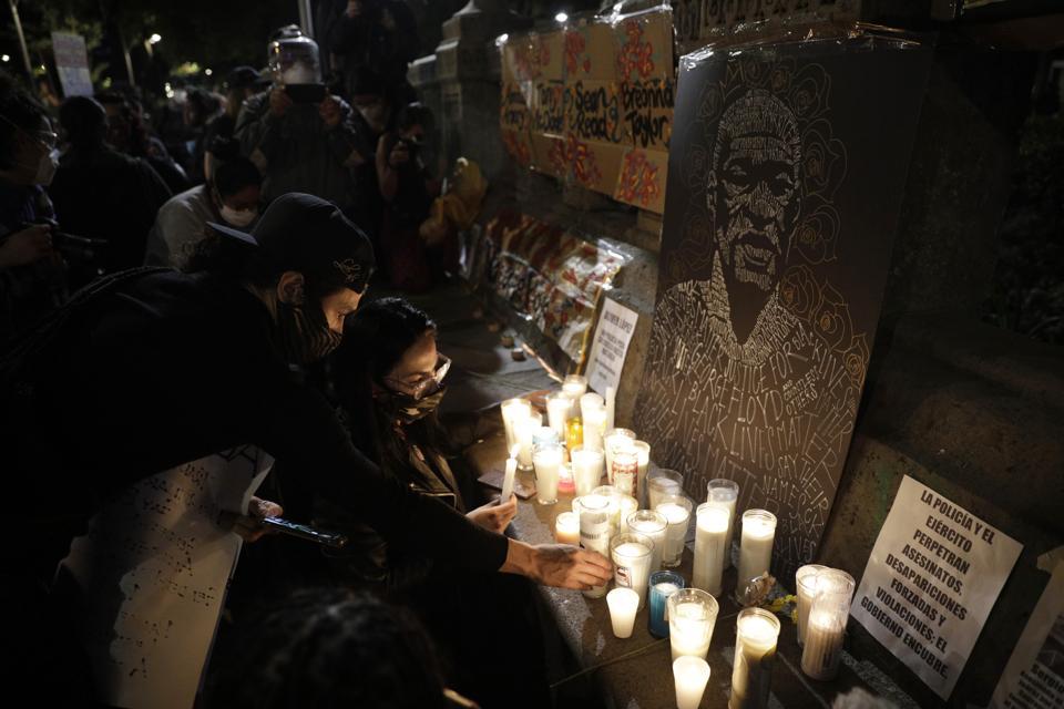 Black Live Matter Protest Against Murder Of George Floyd