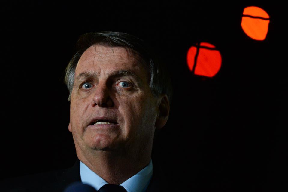 Bolsonaro Speaks with his Supporters and the Press in Front of Palacio da Alvorada Amidst the Coronavirus (COVID - 19) Pandemic