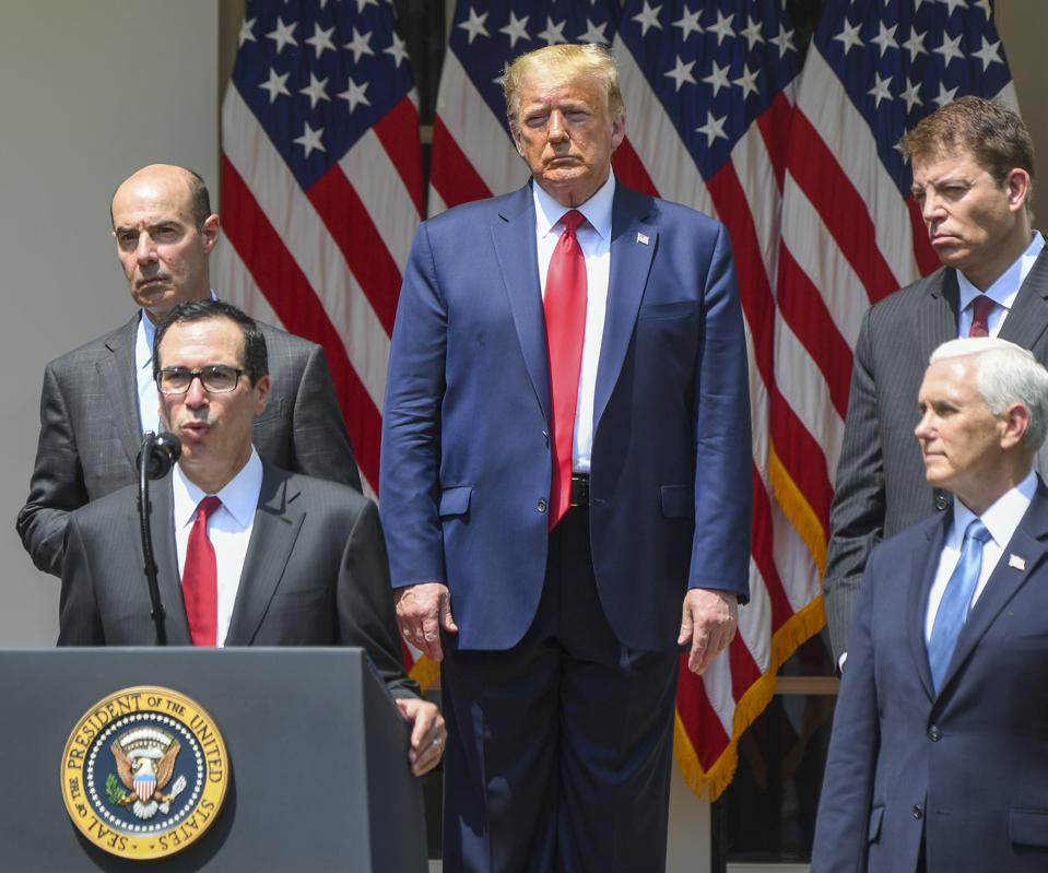 President Donald Trump hold a press conference in the Rose Garden