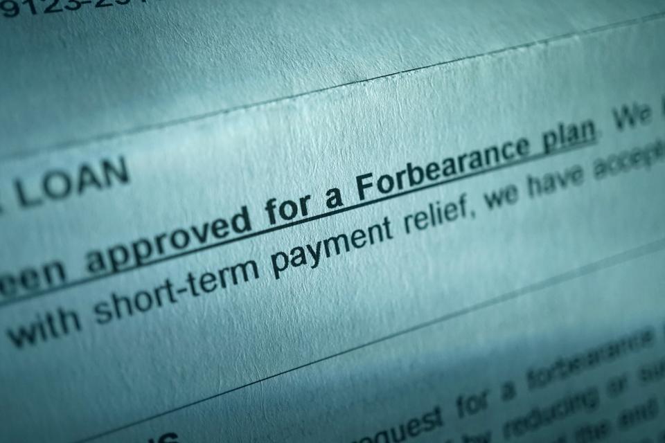Forbearance, mortgage