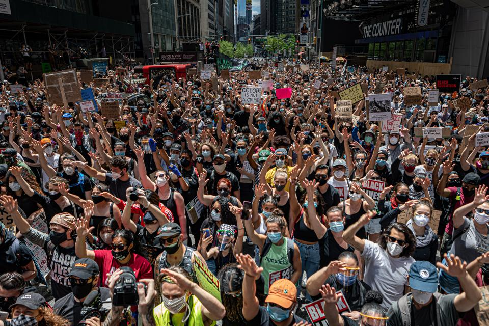 Thousands gathered in New York's Times Square for a...