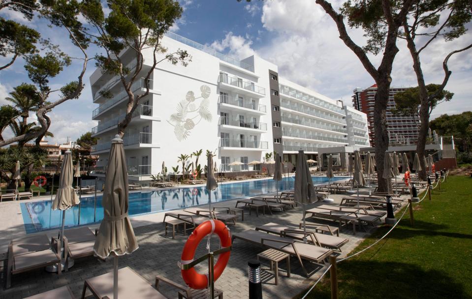 The RIU Concordia Hotel in Palma de Mallorca on June 10, 2020 preparing to welcome German tourists
