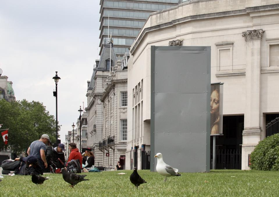 London monuments boarded up ahead of protests