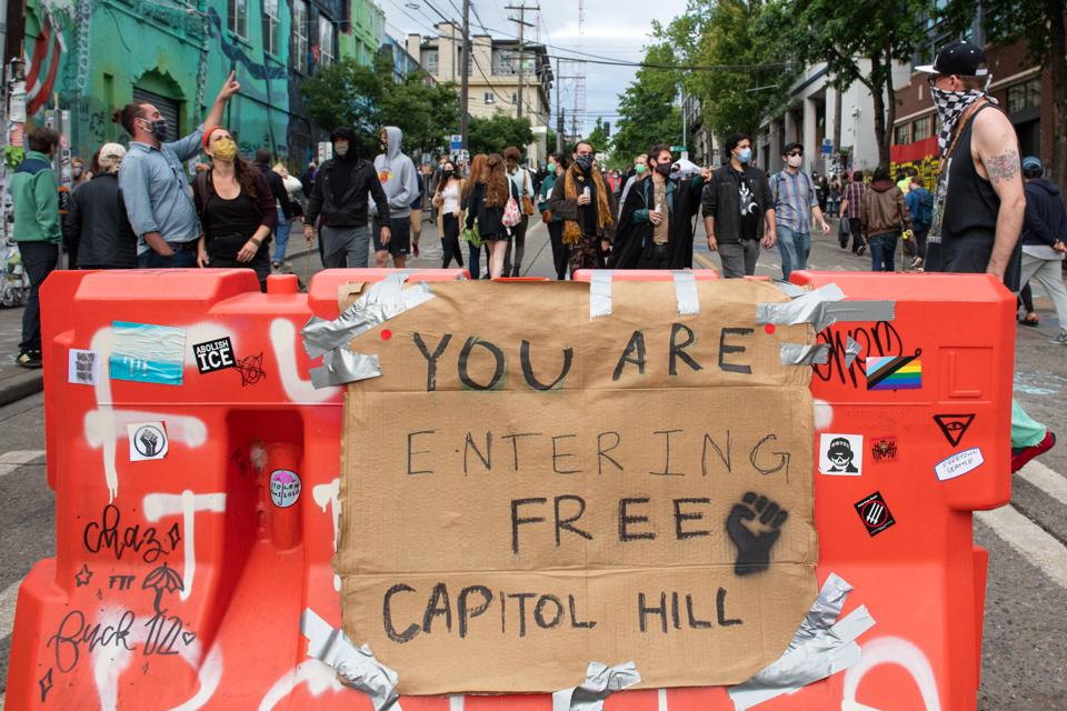 Views from the area named ″Capitol Hill Autonomous Zone″ in Seattle