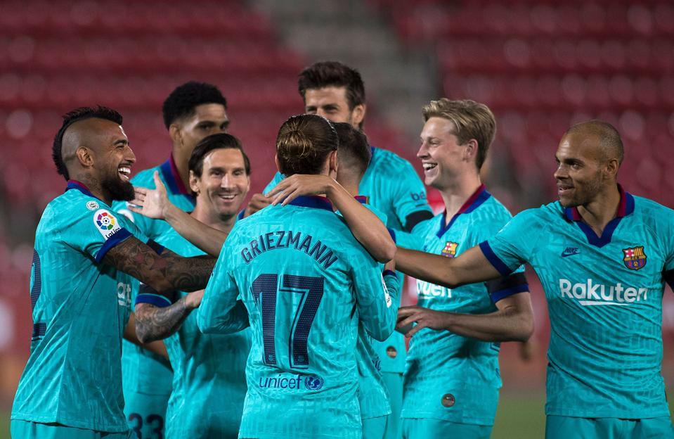 Barcelona's front line of Braithwaite, Griezmann and Messi was impressive against Mallorca