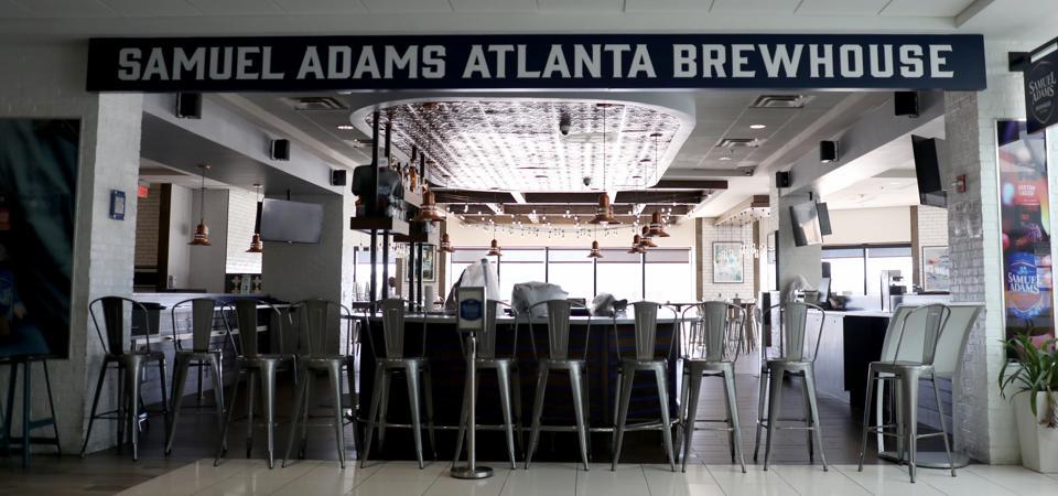 Empty bar at Hartsfield-Jackson Atlanta International Airport as Americans Shelter At Home