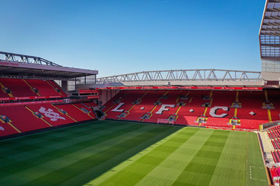 Aerial Views Of Anfield As Football Remains Suspended Due To Coronavirus