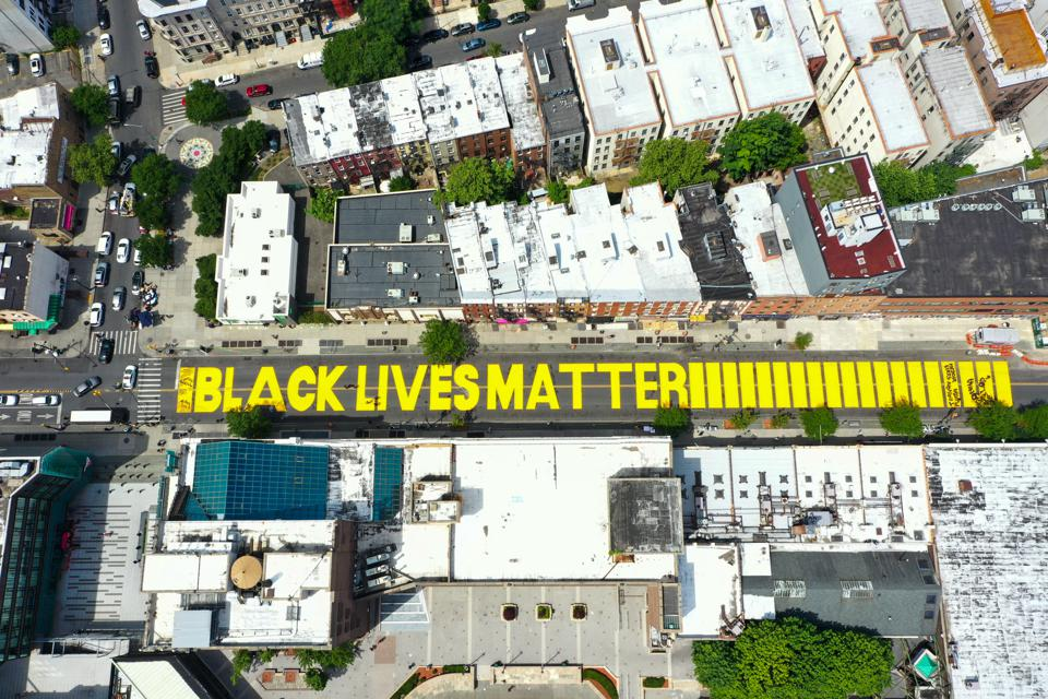 Black Lives Matter murals being defaced