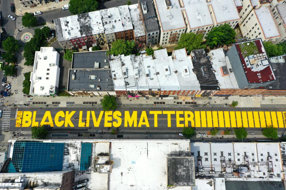 'Black Lives Matter' mural painted in NYC