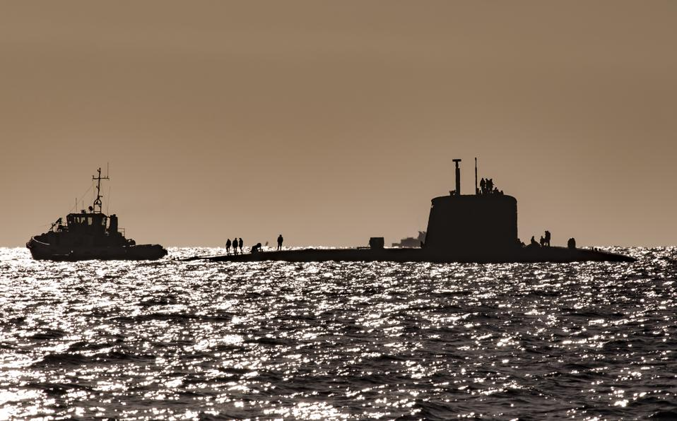 Nuclear submarine attack on the surface