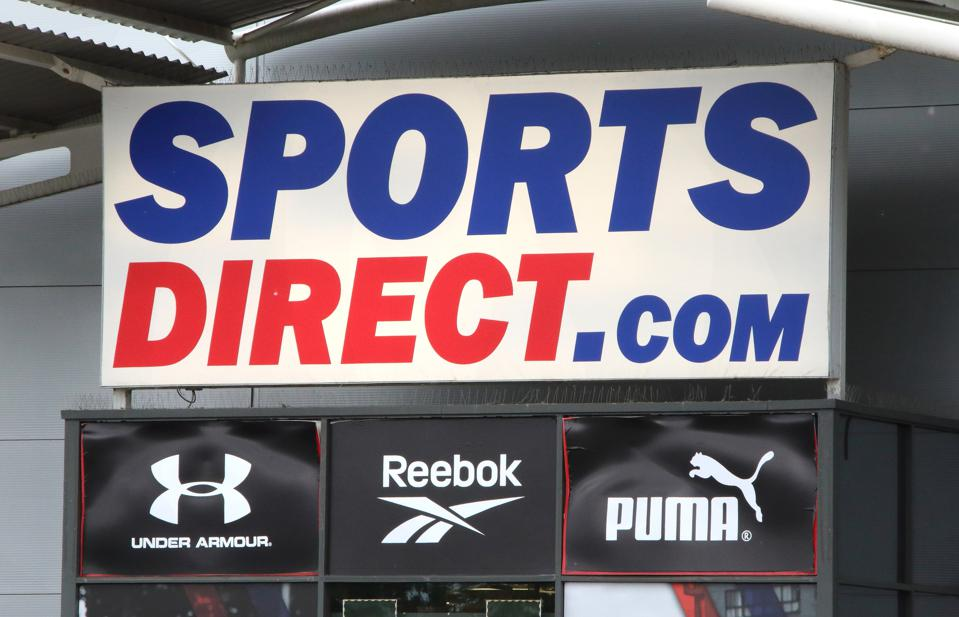 Sports Direct logo seen at one of their branches...